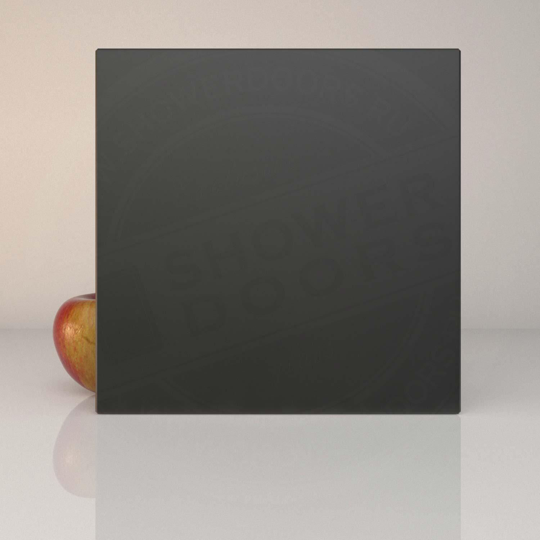 Матовое чёрное стекло для душевой MATELUX BLACK 8 mm