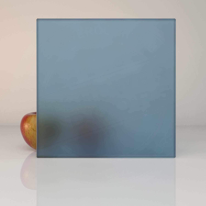 Матовое синее стекло для душевой MATELUX BLUE 8 mm