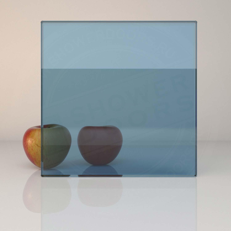 Синее стекло для душевой PLANIBEL BLUE 8 mm